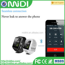 2015 hot sale cheap wholesale mobile phones bluetooth U8 smart watch with high quality