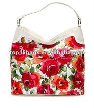 Attractive Fashion Flower Print Canvas Handbag