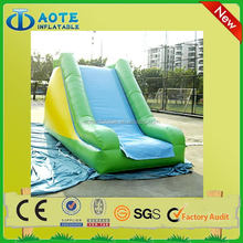 Colorful most popular red inflatable double lane slip slide