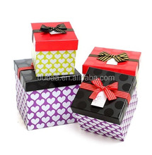 Gift Box - Imported Gifts,New Year Gift Box,2014 Fashion Design Gift Ribbon Paper Box/Square Gift Box