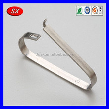 small metal spring clips , customized sheet metal fabrication , metal stamping electric parts Passed ISO 9001