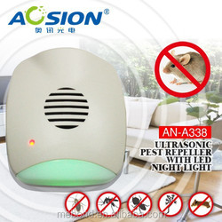 Family With LED Night Light Mini Plug-in Electronic ultrasonic mouse &rat repeller