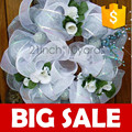 blanco de la boda decorado puenteenarco tela de malla de red para el festival y artículos de fiesta