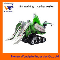 new style mini walking rice combine harvester