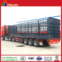 3 axle fence cargo truck trailer 2/3 Axles animal transport trucks with gooseneck style optional