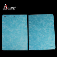 Book design tablet cover genuine leather for ipad air case