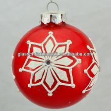 certificate popular xmas glass ball holiday christmas glass ornament, Trade Assurance supplier