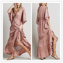 Long Sleeve Hollow Out Back Full Length Lace Satin Evening Gown Fancy Modest Dresses Costume NT6198