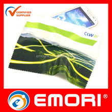 Low cost customized eco-friendly microfiber nice digital printing cleaning cloth