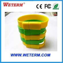 Best quality cheapest silicone wrist band USB flash drive