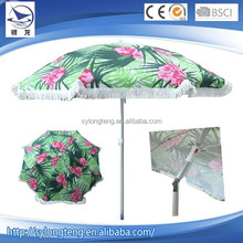 250cm 170T polyester advertising beach umbrella with valance and handle