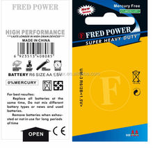 battery FRED POWER blister packing AA AAA