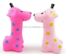 squeaky natural rubber giraffe vinyl toy for kids,custom Screaming animal design plastic toy,cute vinyl squeaky plastic toys