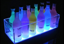 Rechargeable LED glowing ice wine Bucket/beer holder/wine cooler