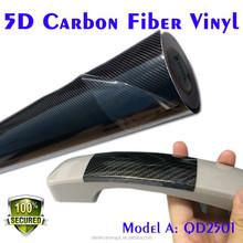 Vinyl wrap patterns new design Glossy Black 5D Carbon Fiber Wrap for cars film material