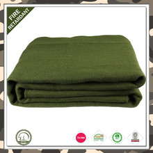 Shaoxing facotry professional for acrylic or wool material heavy army military blankets