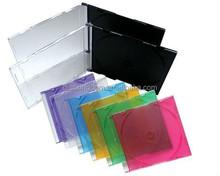 Quad jewel case vinyl record sleeve 5.2MM SLIM CD CASE with Drop Veins