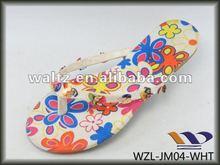zapatilla de colorido la señora del PVC