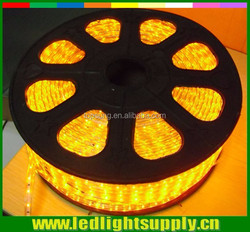 Hot selling SMD double row waterproof continuous length trimmable 5050 flexible led strip 120led/m yellow color