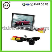 good quality fold 3.5inch LCD car monitor with night vision car camera with ce approval