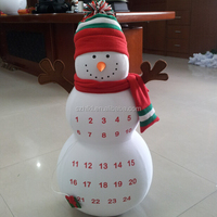 amazing cute snow man design inflatable punching bag for Christmas decoration indoor