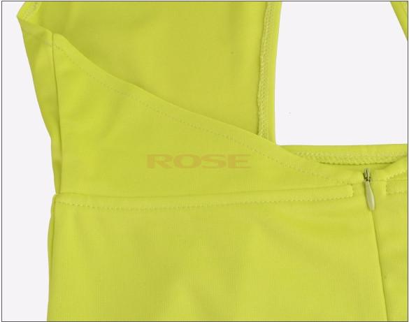 Мода m l xl кроссовер платье высокой талией v-образным вырезом вырезать 5 цветов 3 размеров платье sv004618
