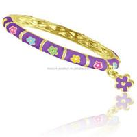 Latest design girls gold bangles baby gold bangles designs China cheap 18k gold baby bangle