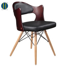 2015 Christmas Pomotional PU Leather Dinner Chair with Wooden Legs