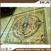 wall and floor marble pattern waterjet medallion tiles