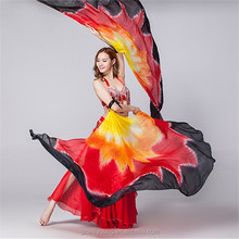 Belly Dance New Silk Isis Wings High Quality Dancing Real Silk Wings Belly Dance Silk Veils 2PCS/LOT