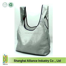 NEW Eco Friendly Ripstop Nylon Foldable Reusable Bag Grocery Shopping Tote Bag with velcro on the top of the handles