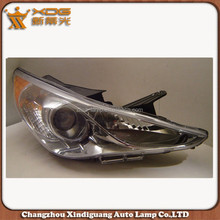 Yellow white Sonata 11 head lamp , motorcycle headlight assembly for Sonata 2011(OEM L 92101-3S000 R 90102-3S000)