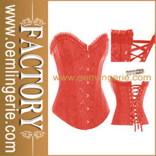 toptan sıcak satış kırmızı underbust kravat geri kadın seksi ayarlanabilir korse