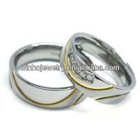 fashion jewelry couple diamond rings