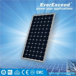 EverExceed High Quality 150w 156*156mm Monocrystalline Solar Panel made of Grade A solar cell for grid-on/off solar system