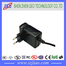 12v0.5a 15w conversion head power adapter with UL,EU,SAA,UK,CN,KR plugs