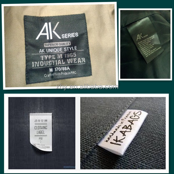 customized type printed label for polo shirt