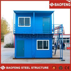 fast assemble portable environment-friendly 20ft steel container house