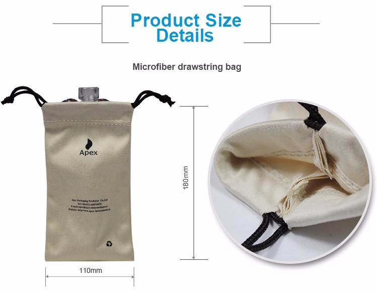 Personnalisé Recyclable Petit Microfibre Lunettes Cordon Cadeau Sac