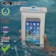 Clear mobile phone waterproof bag with earphone