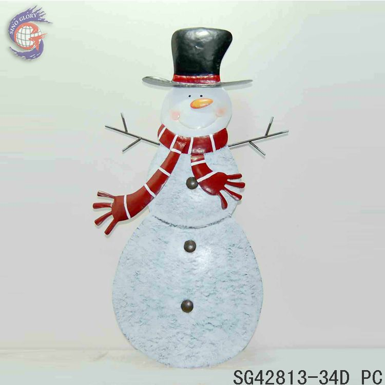 Metal christmas snowman outdoor standing decorations buy for 36 countdown to christmas snowman yard decoration