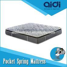 Luxury Bedroom Sets Visco Gel Memory Foam Pocket Spring Mattress From China AH-1202