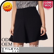 llanura de moda de mujer negro sexy falda corta de fotos para las niñas