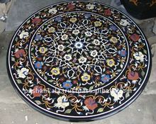 Black Marble fine Inlay Table Top