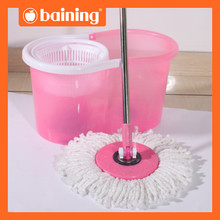 MINI SIZE swivel head mop spin and go mop pink or blue cleaning mob