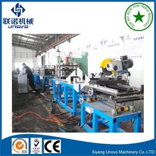 UNOVO Upgrade Configuration Slotted Steel Mounting Rail Roll Forming Machine