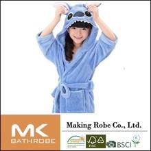 Cartoon girls robe coral fleece thickening with a hood winter female child bathrobe Children's Clothing Sleepwear