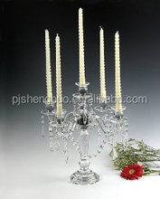 antique hurricane crystal candle holder
