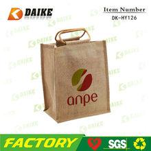 Exporters Recycle Jute Wine Pvc Bag DK-HY126