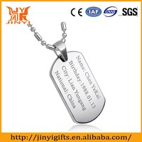 best selling new product cut out silver metal dog tag